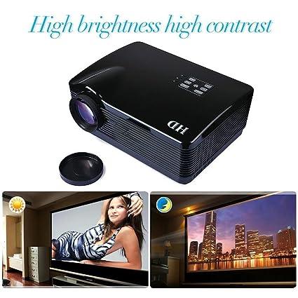 Flylinktech® 3D HD proyector LED, 3000 lúmenes TV Proyectores ...