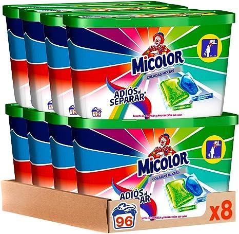 Micolor Detergente en Cápsulas Adiós al Separar - Pack de 8, Total: 96 Lavados