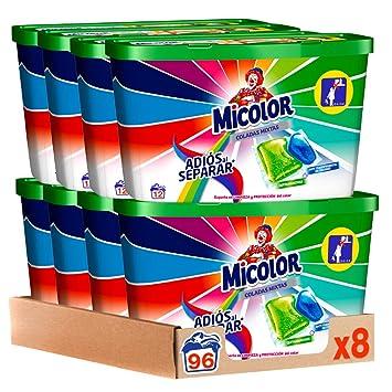 Micolor Detergente en Cápsulas Adiós al Separar - Pack de 8, Total ...
