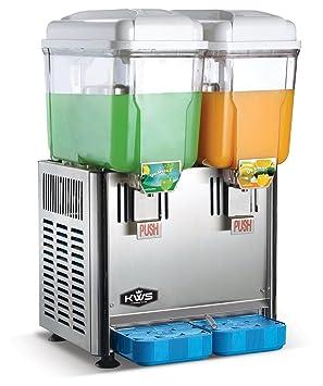KWS comercial dispensadores de bebidas frías y calientes de acero inoxidable profesional dispensadores de bebidas 2 tanques 3 gallon por tanques: Amazon.es: ...