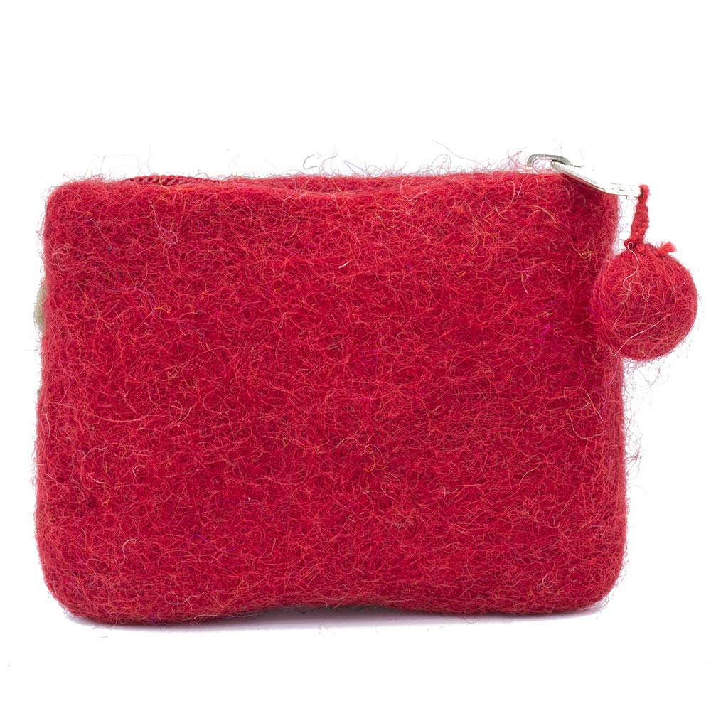 Amazon.com: Monedero rojo cartera cartera cartera divertido ...