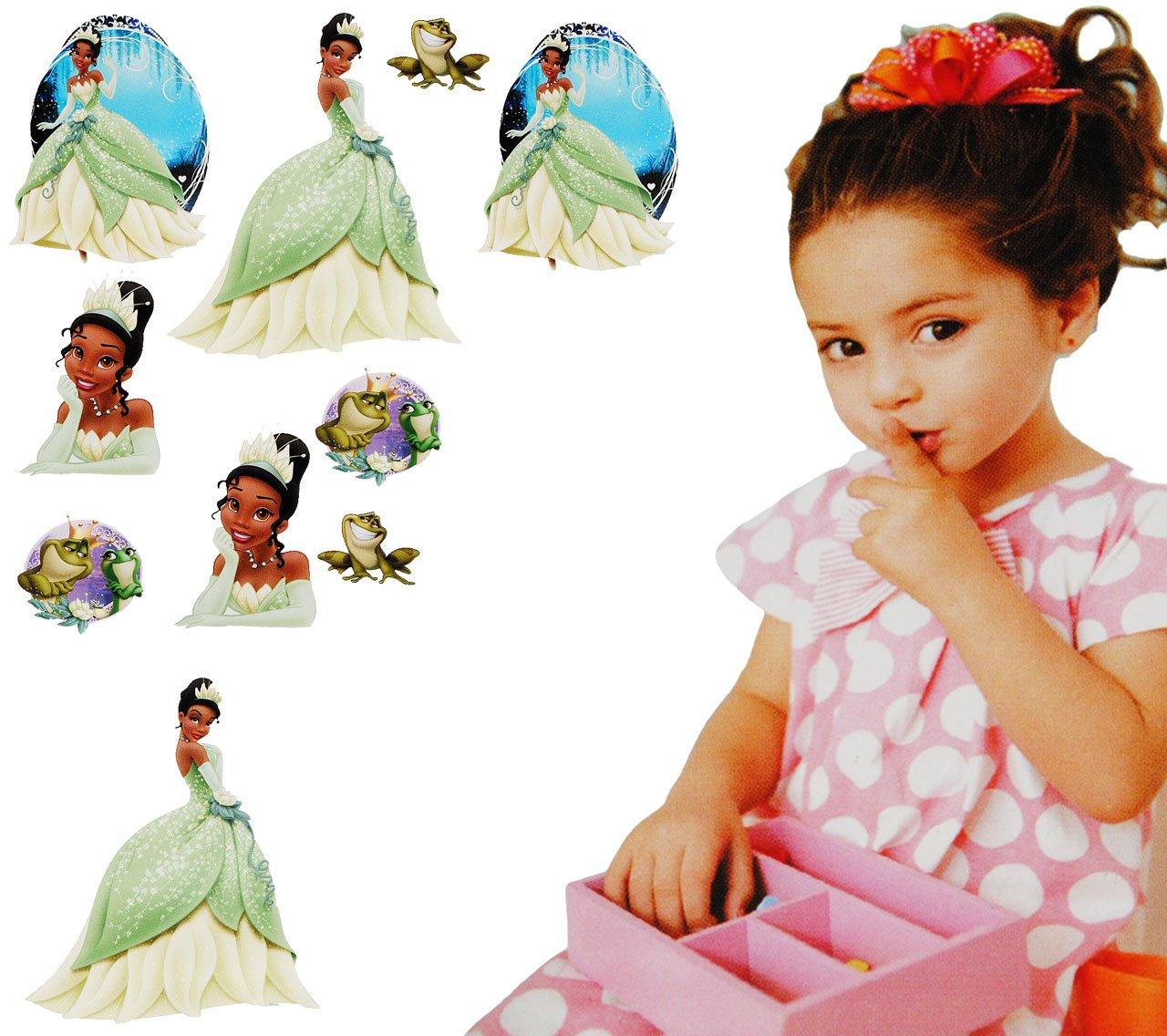 alles-meine.de GmbH 10 tlg. Set _ Fensterbilder - Disney Küss Den Frosch / Prinzessin Tiana - ..