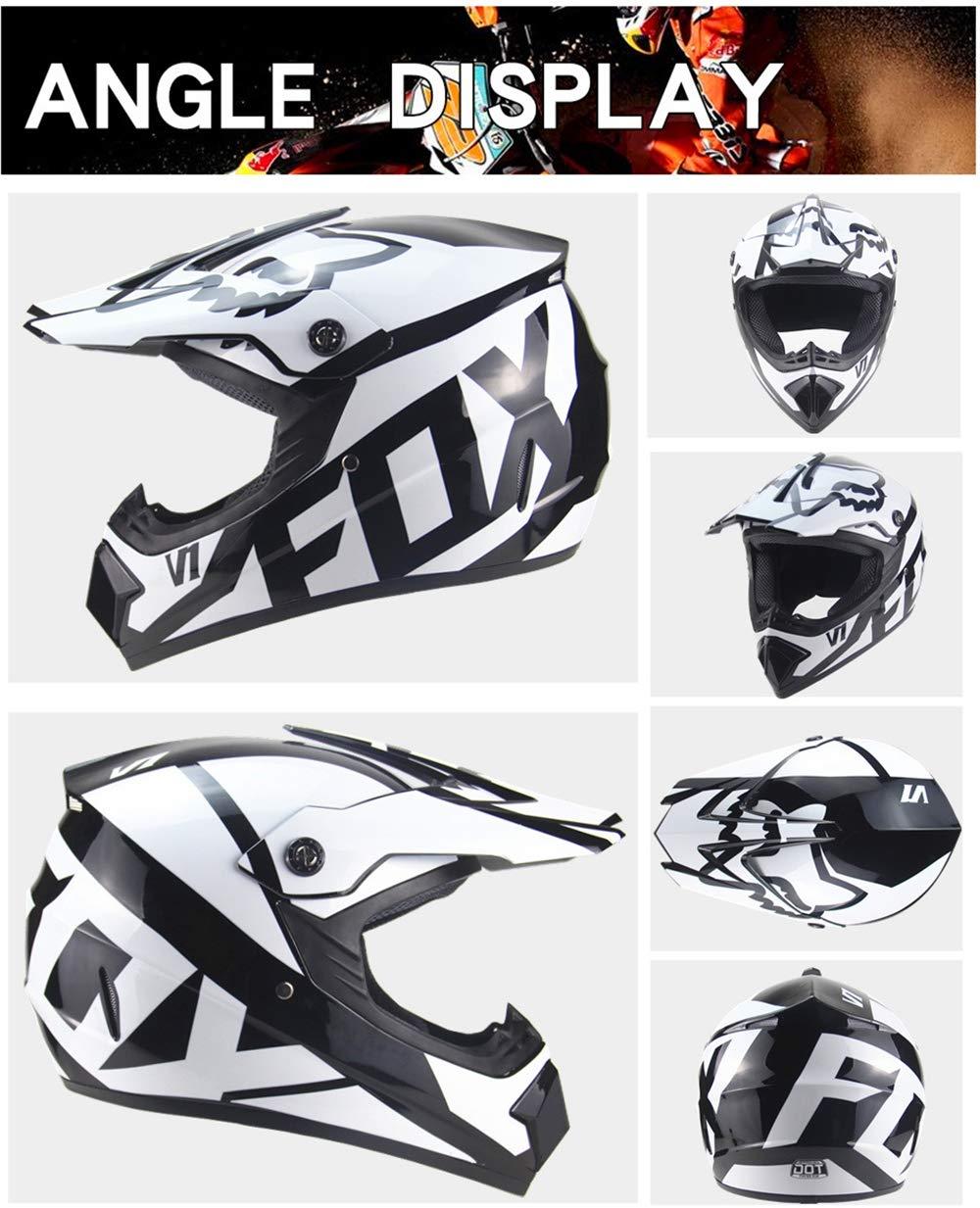 Mujeres M-GLT Motocross Adulto Crash Helmet para Hombres Motocicletas DH Off-Road Enduro ATV BMX MTB Downhill Dirt Bikes Quad Moto Cross Country Casco con Gafas M/áscara