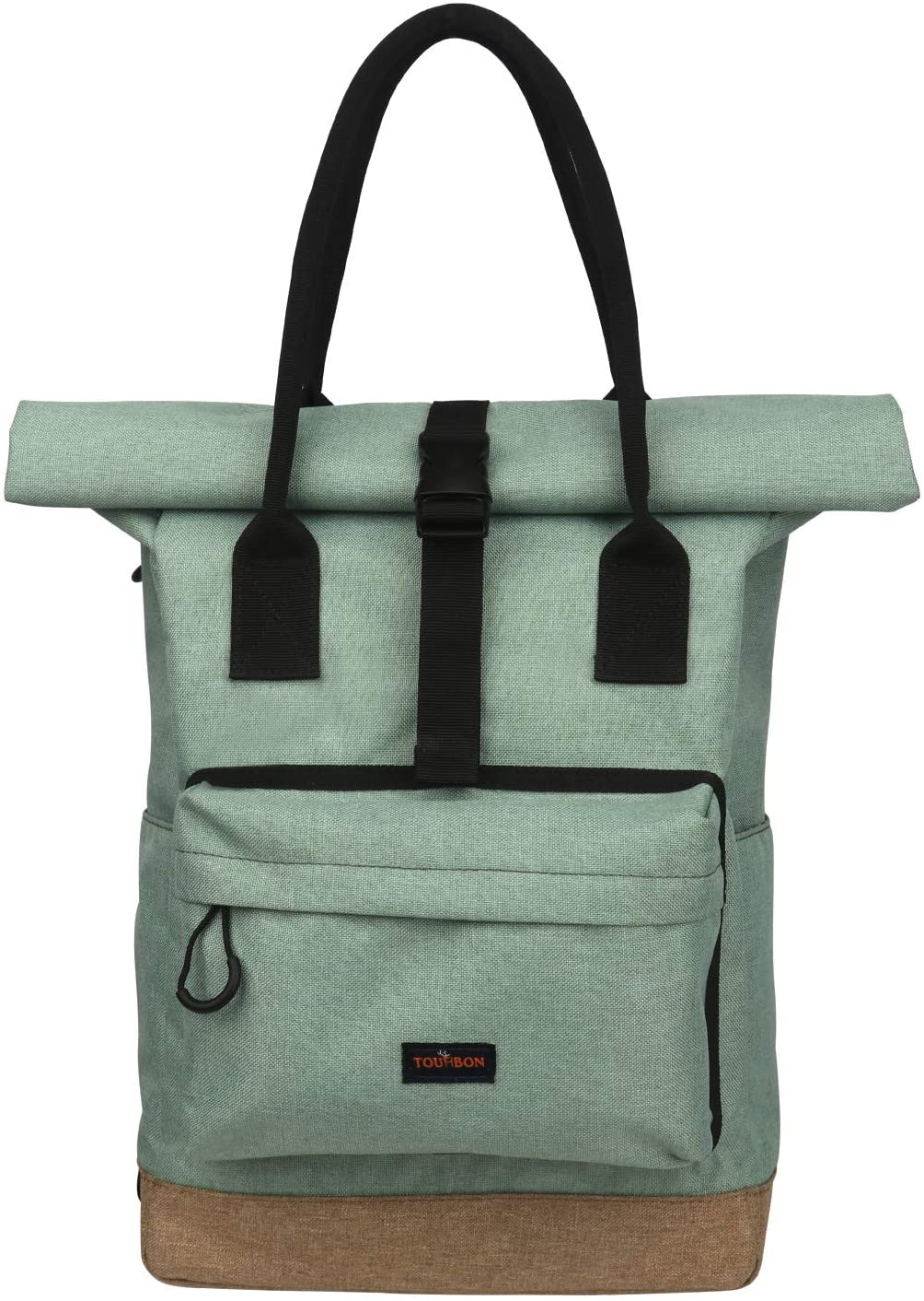 Tourbon Nylon Roll-Top Clip-on Market Shopper Sacoche V/élo Sac /À Dos /Épaule Tote Bag