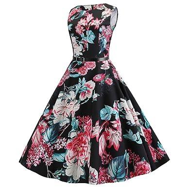 plusieurs couleurs Livraison gratuite dans le monde entier dernière remise Vintage Hepburn Robes imprimées, Femmes sans Bretelles ...