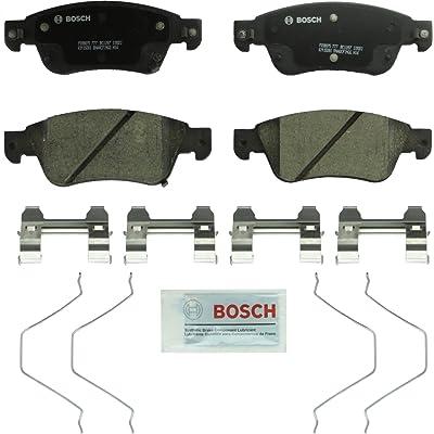 Bosch BC1287 QuietCast Premium Ceramic Disc Brake Pad Set For Infiniti: 2007-2008 G35, 2008-2013 G37, 2014-2015 Q60; Front: Automotive