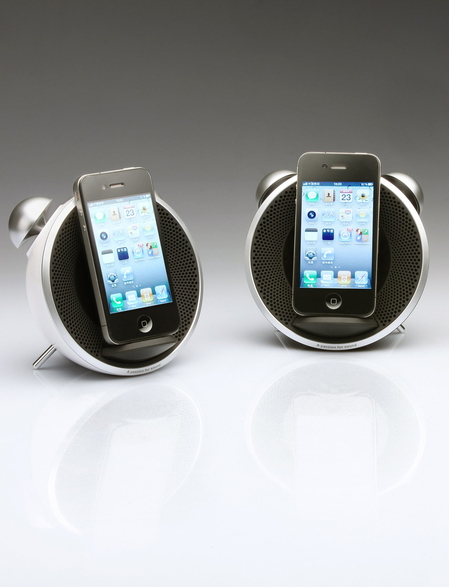 Edifier Retro-Styled iTick Tock iPod/iPhone Docking System - Black