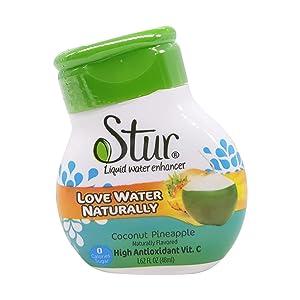 STUR Coconut Water Pineapple Drink Mix, 1.62 OZ