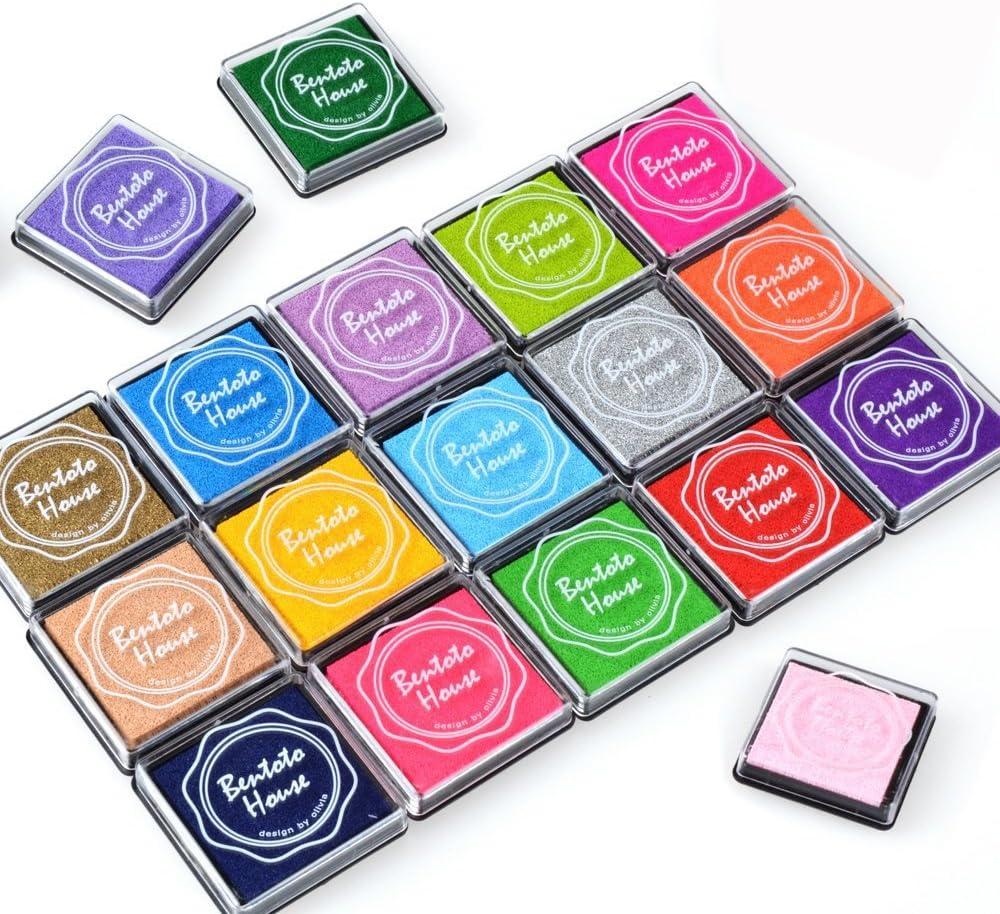 Txyk 20 Colores Rainbow Finger Ink Pad para niños Craft Ink Pad Sellos Partner DIY Color 4 * 4 cm
