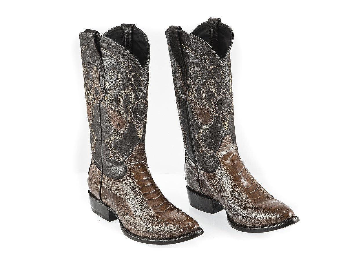 2a570b75e04 Amazon.com | Cuadra Cowboy Mens Boots Brown - Ostrich Leg Leather ...
