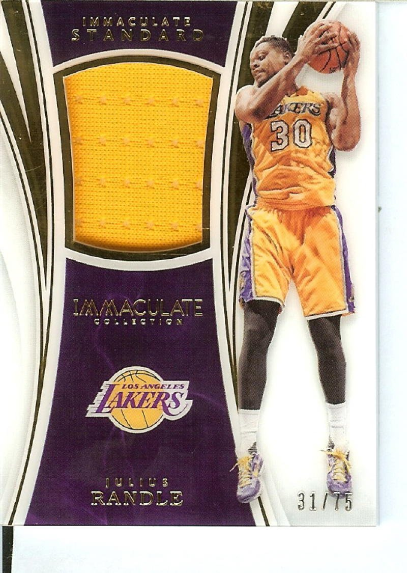 Basketball NBA 2015-16 Immaculate Standard #30 Julius Randle 31/75 Lakers by Immaculate