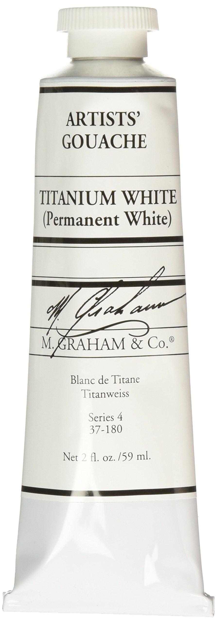 M. Graham 2-Ounce Tube Gouache Paint, Titanium White by M. Graham & Co.