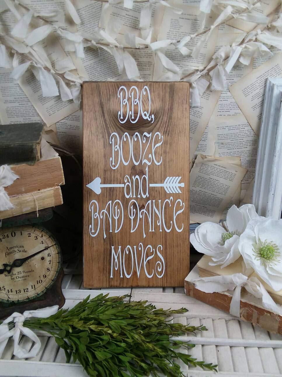 Qui556 - Cartel de Madera con Texto en inglés Bad Dance ...