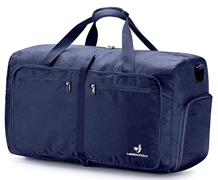 5a99ba53aec6 NEEKFOX Packable Large Travel Duffel Bag for Men Women Lightweight Foldable  Duffels for Luggage Sports Gym Bag 60L  Amazon.co.uk  Luggage