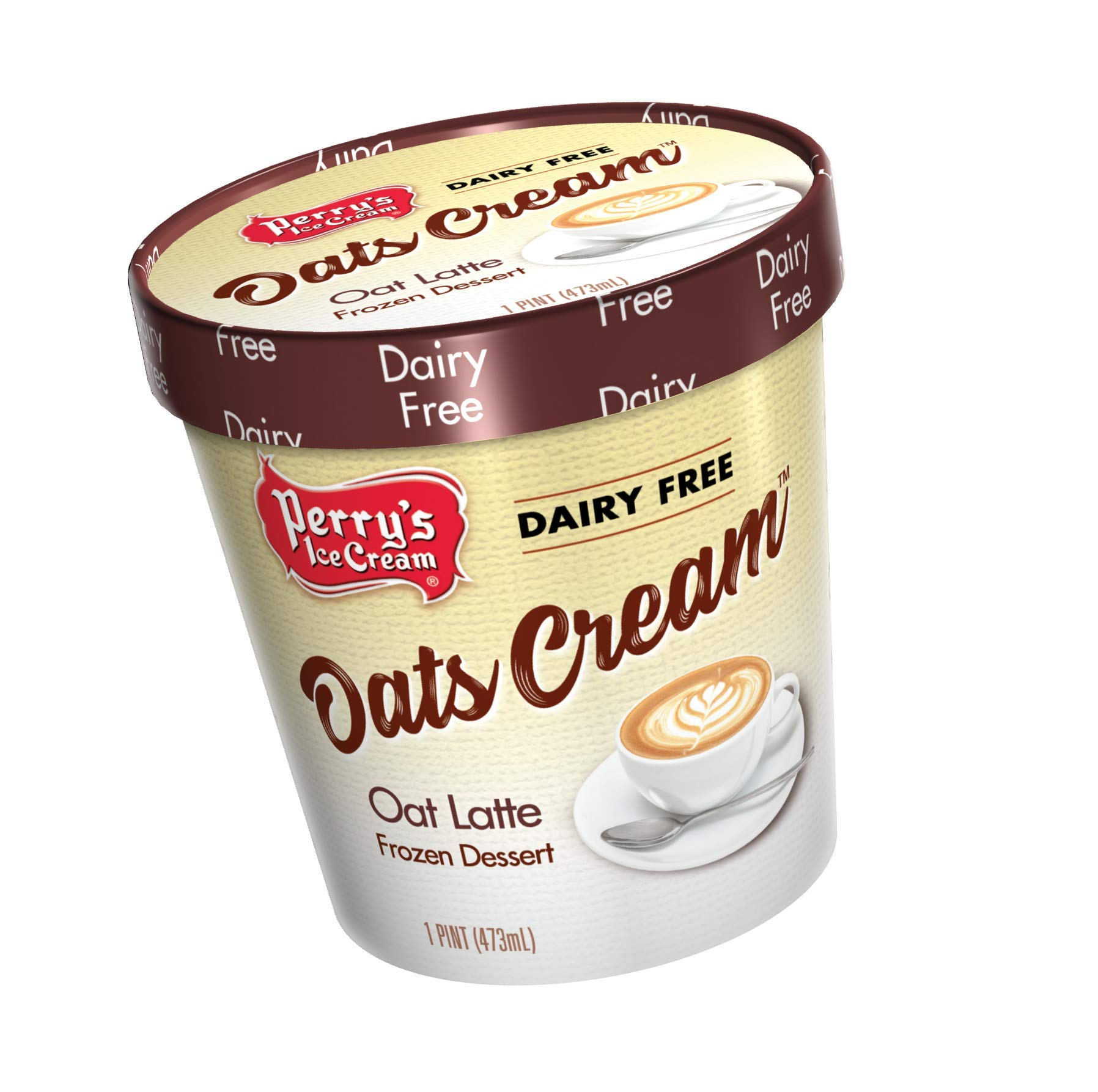 Perry's Ice Cream, Pint, Oats Cream, Oat Latte - Pack of 8