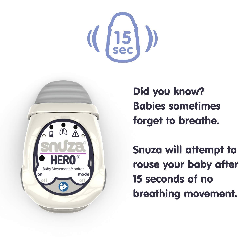 + New Battery Manual +Box Case Snuza HERO SE Portable Baby Movement Monitor