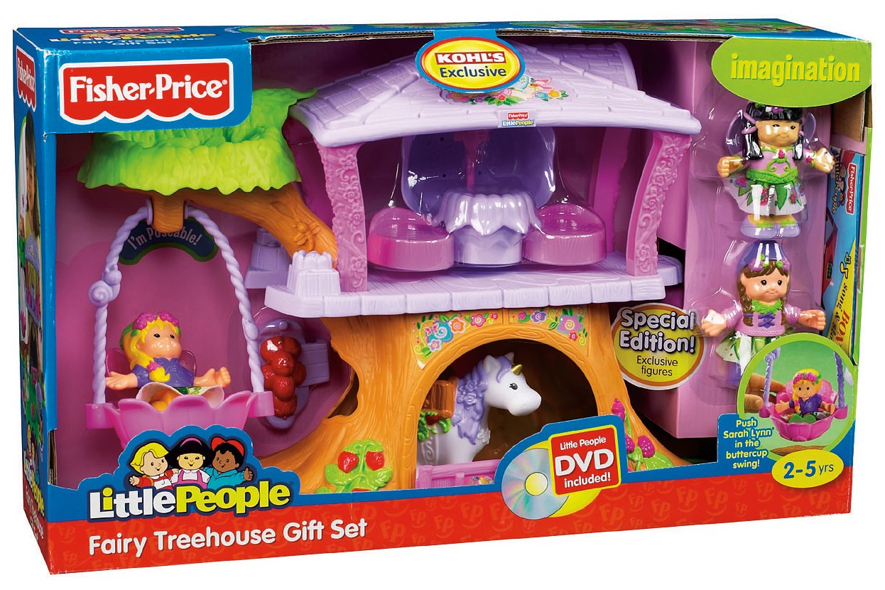 Superior Little People Fairy Treehouse Part - 4: Amazon.com: Fisher-Price Little People Fairyland Treehouse Giftset: Toys U0026  Games