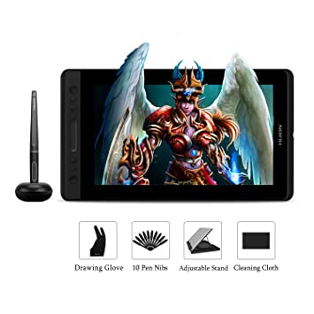 Huion KAMVAS PRO 13 Graphic Tablet with Screen - 8192 Levels BATTERY-FREE  Pen Graphic Drawing Tablet Monitor With TILT Function and 4 Express Keys &  1