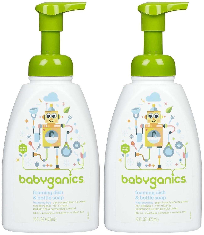 Babyganics Foaming Dish & Bottle Soap - Fragrance Free - 16 oz - 2 pk BG-198B