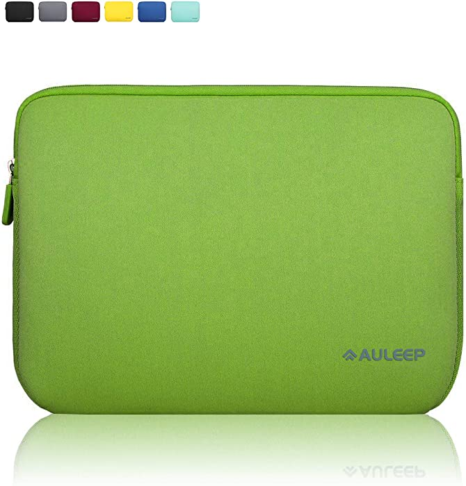 AULEEP Laptop Sleeves, Neoprene Notebook Computer Pocket Tablet Carrying Sleeve/Water-Resistant Compatible Laptop Sleeve for Acer/Asus/Dell/Lenovo/HP (15-15.6 inch, Bamboo Green)