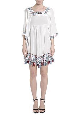 Aztec Sleeve Dress with Fringes