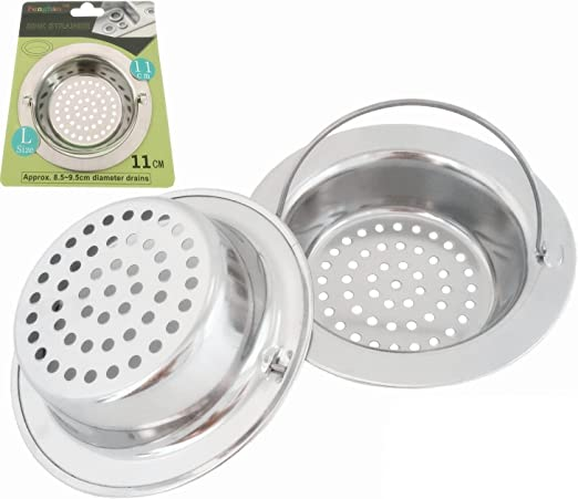 Fengbao 2PCS Stainless-Steel Kitchen Sink Strainer - Large Wide Rim 4.3\
