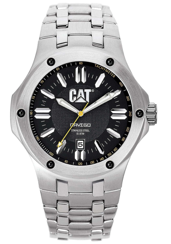 CAT Herren-Armbanduhr Analog edelstahl silber A1.141.11.124