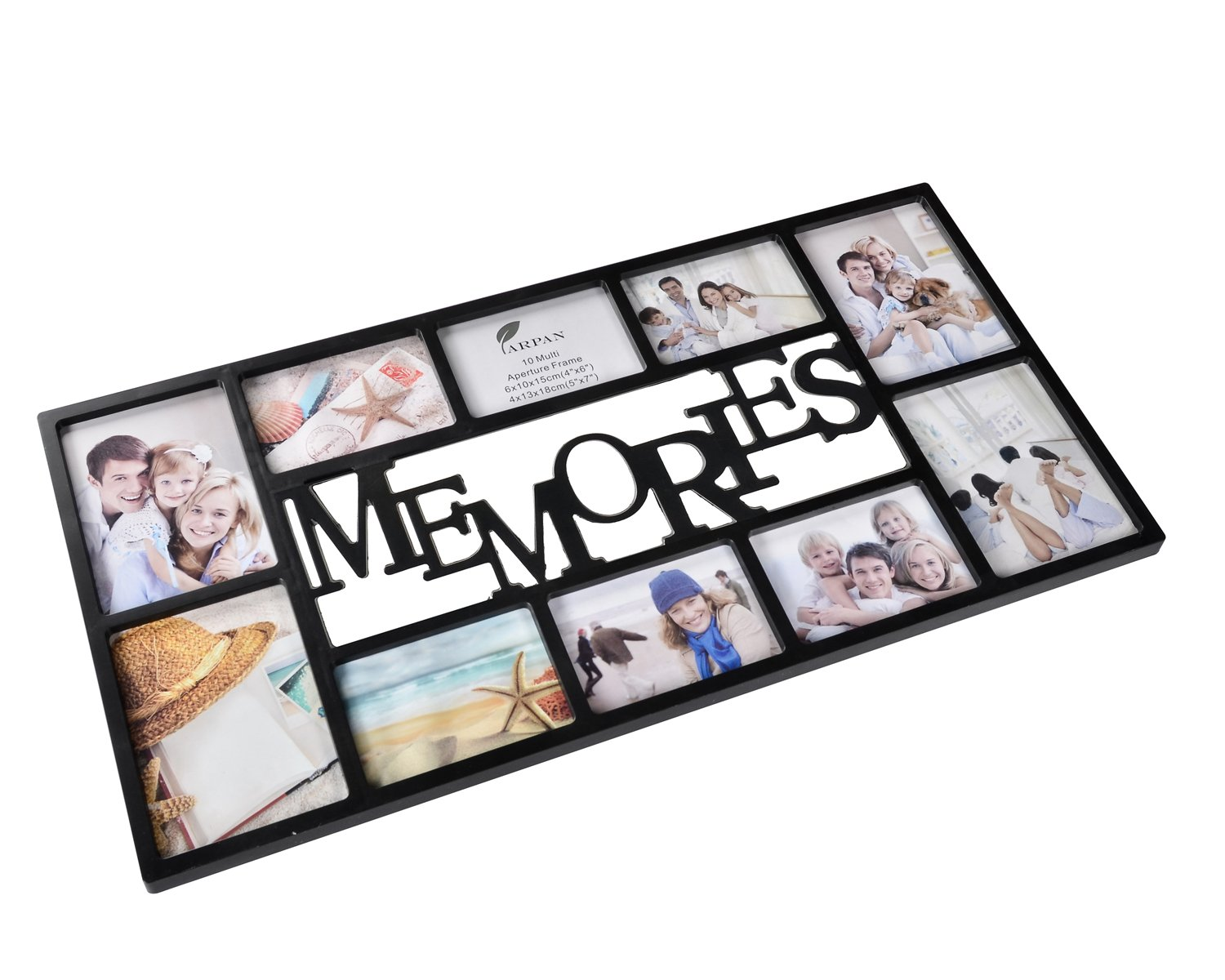 Arpan Memories Multi Aperture Photo Picture Frame Holds 10 Photos ...