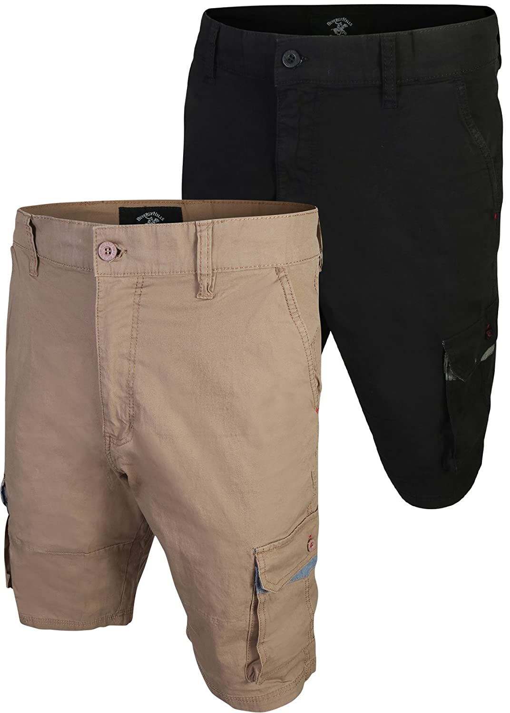 685da095e Beverly Hills Polo Club Men s Twill Cargo Short (2 Pack) - Multi - 38   Amazon.co.uk  Clothing