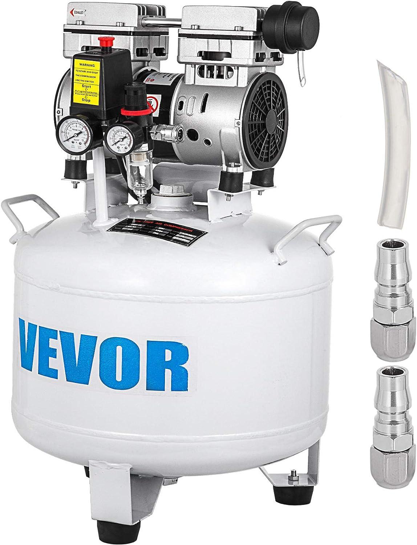 25L GIOEVO Compressore daria Senza Olio da 5,5 galloni Ultra Silenzioso Serbatoio da 25 Litri Compressore daria Silenzioso Compressore da 550 W Senza Olio Basso Rumore