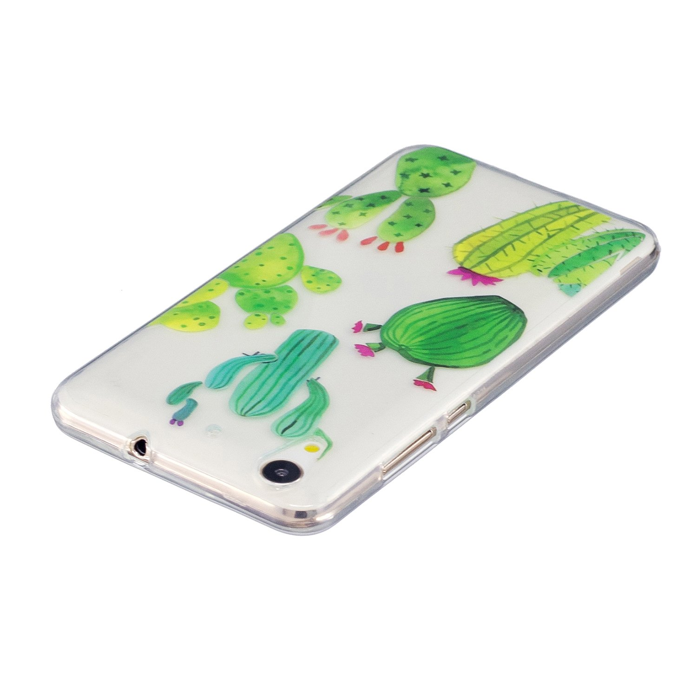 Ooboom/® Huawei Y3 II H/ülle Transparent TPU Silikon Ultra D/ünn Durchsichtig Schutzh/ülle Handy Tasche Case Backcover f/ür Huawei Y3 II Kakteen