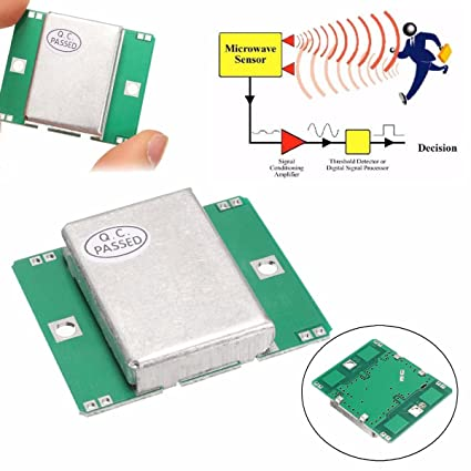 Amazon.com: INSMA Microwave Sensor Module 10.525GHz Doppler Radar Motion Detector 40mA for Arduino: Car Electronics