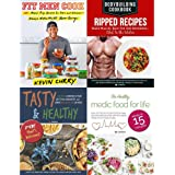 Fit men cook, bodybuilding cookbook ripped recipes, tasty and healthy, healthy medic food for life 4 books collection set