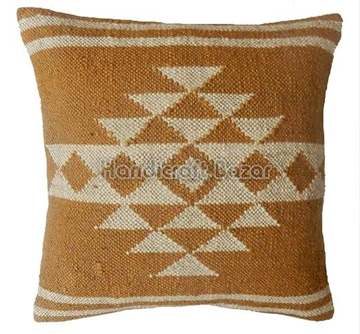 Handicraft Bazar 5 Fundas de cojín de Yute Kilim Hechas a ...