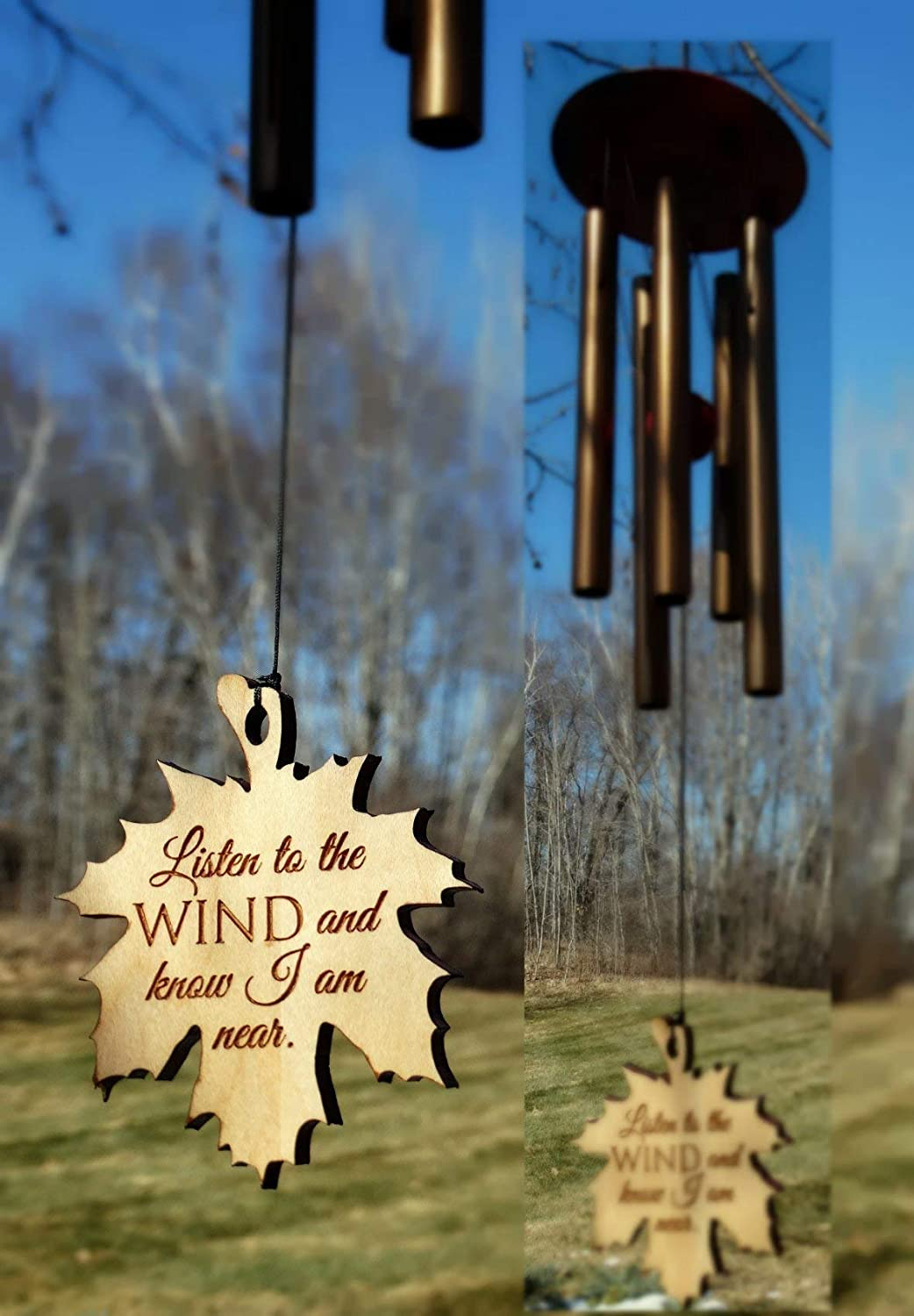 Listen to the WIND Memorial Wind Chime PRIME rush shipping for funeral loss in memory of Loved One Copper Wind Chime for Memorial Garden or Porch Heaven day remembering stillborn baby miscarriage