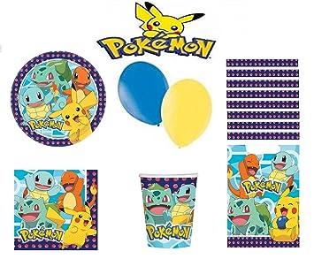 Pokèmon Kit cumpleaños 16 Personas: Amazon.es: Juguetes y juegos