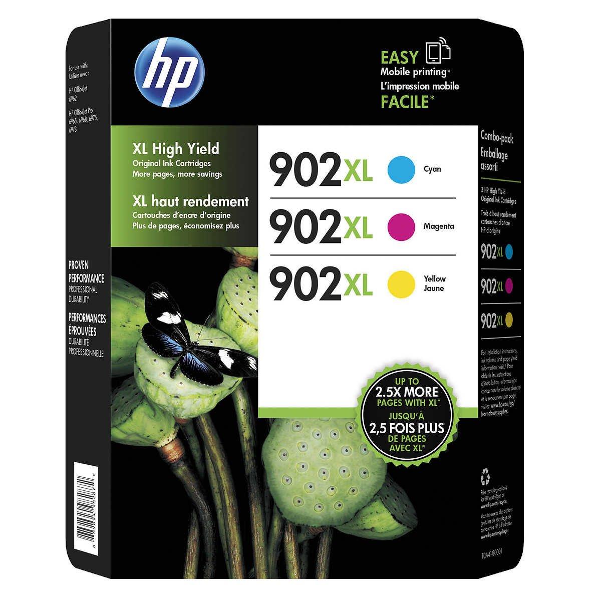 Hewlett Packard T0A41BN Hp 902Xl Cmy Crtg Club 3-Pk Ink, Multi FBA_T0A41BN