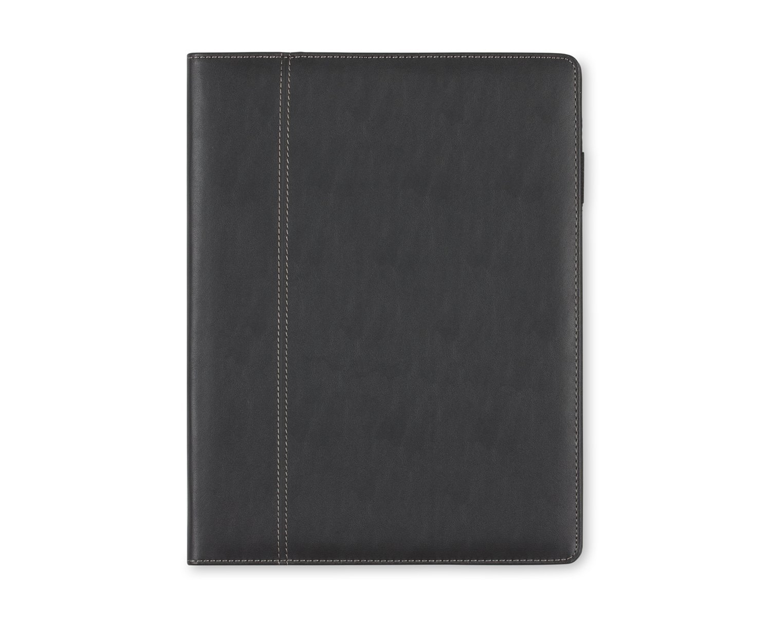 Blue Sky Professional Padfolio, 9.5'' x 12'', Black Leather-Like Textured Cover, Paper Notepad Included