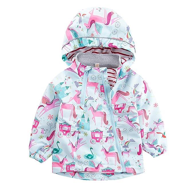 Amazon.com: Chamarra de invierno para niñas con diseño de ...