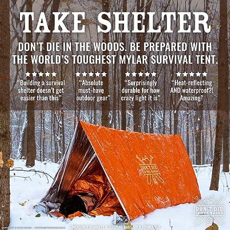 Zelt Outdoor Survival Tent Notfallzelt Überlebenszelt Thermalzelt Campingzelt