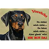 +++ DOBERMANN - Metall WARNSCHILD Schild Hundeschild Sign - DBM 20 T2