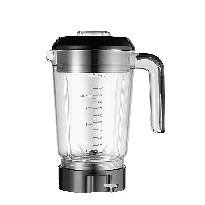 WMF Batidora Kult X - Batidora de vaso multifunción 900 W de 1,2 L con 2 velocidades e incluye 1 jarra, 2 botellas y 1 recipiente de mezcla pequeño, ...