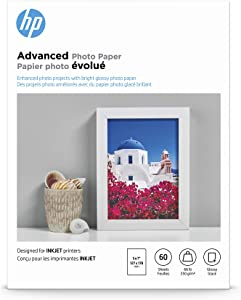 HP Advanced Photo Paper | Glossy | 5x7 | 60 Sheets