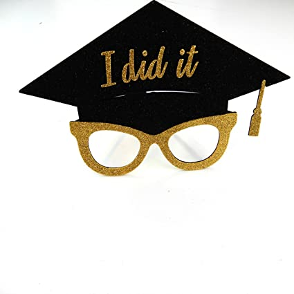 2326b70d5273 Amazon.com: picwrap Graduation Glasses Photo Booth Props We did it ...