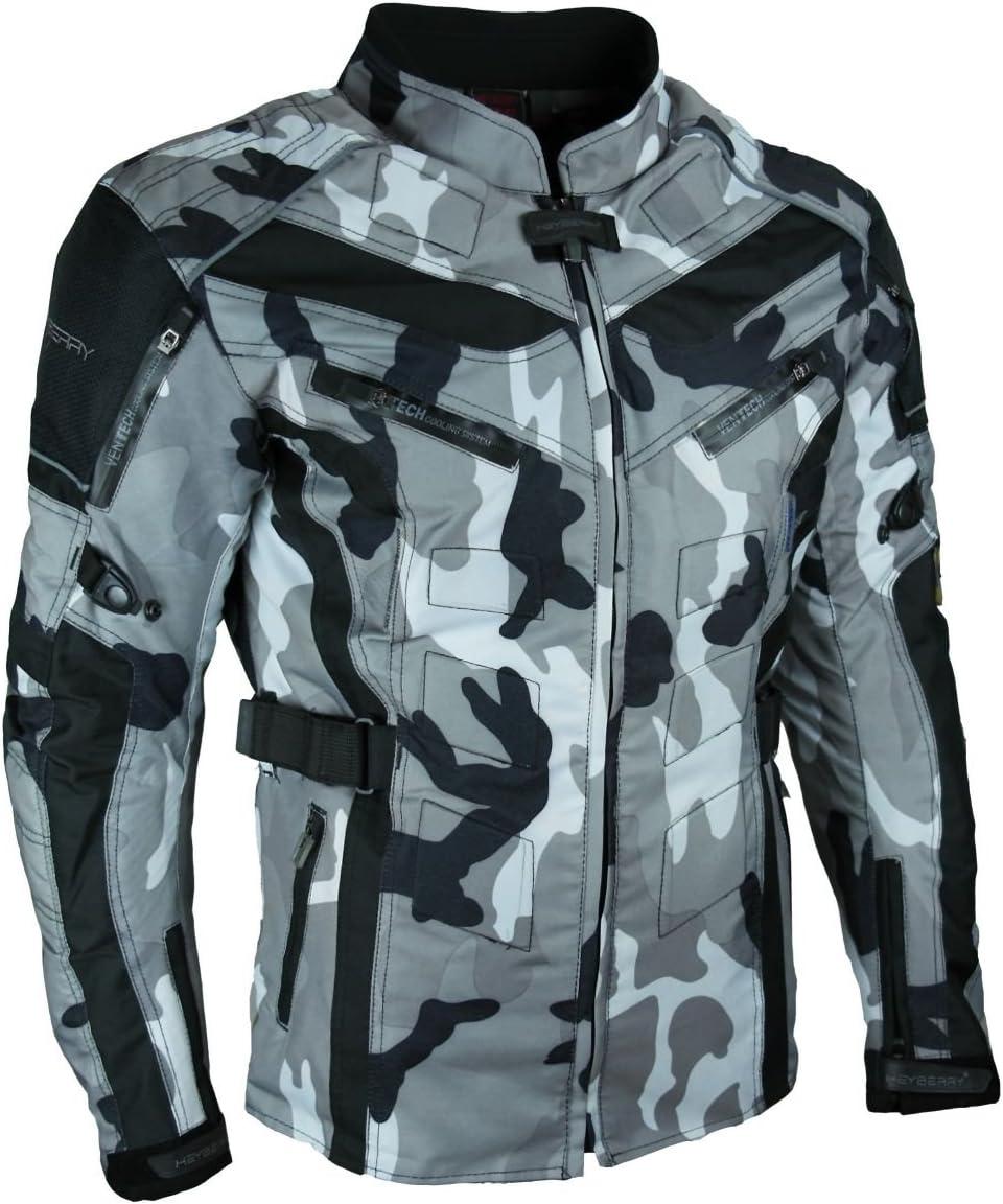 Heyberry Touren Motorrad Jacke Motorradjacke Textil Camouflage Weiss Gr Xl Auto