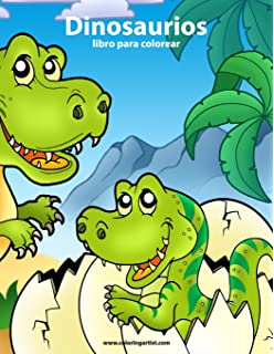 Dinosaurios libro para colorear 1 (Volume 1) (Spanish Edition)