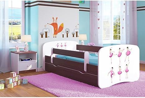 Cama infantil de 80 x 180 cm con cajones, somieres, colchón ...