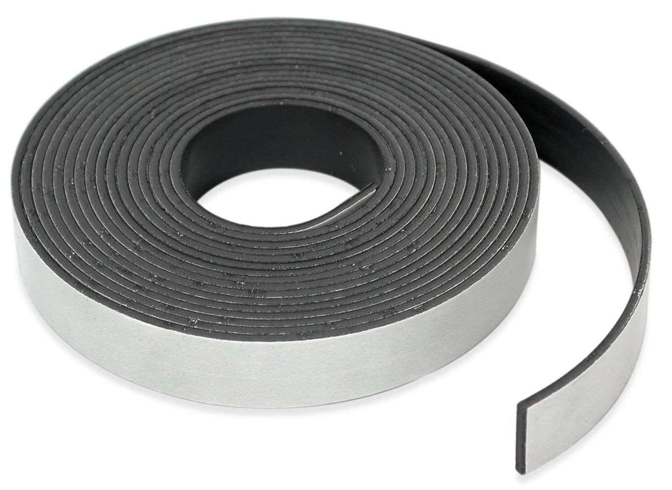 "Master Magnetics Roll-N-Cut Flexible Magnetic Tape Refill - 1/16"" Thick x 1/2"" Wide x 15 feet. (1 roll), 07518"