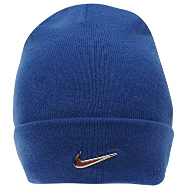 Image Unavailable. Image not available for. Colour  Nike Junior Beanie  Metal Logo Blue Hat ... 70a26a9eaa1