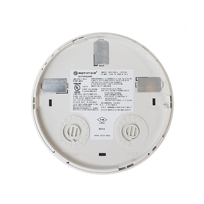 notificador Honeywell fsp-851 Sensor Inteligente Detector de humo fotoeléctrico Fire Alarm: Amazon.es: Bricolaje y herramientas
